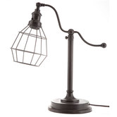 Distressed Brown Metal Task Lamp